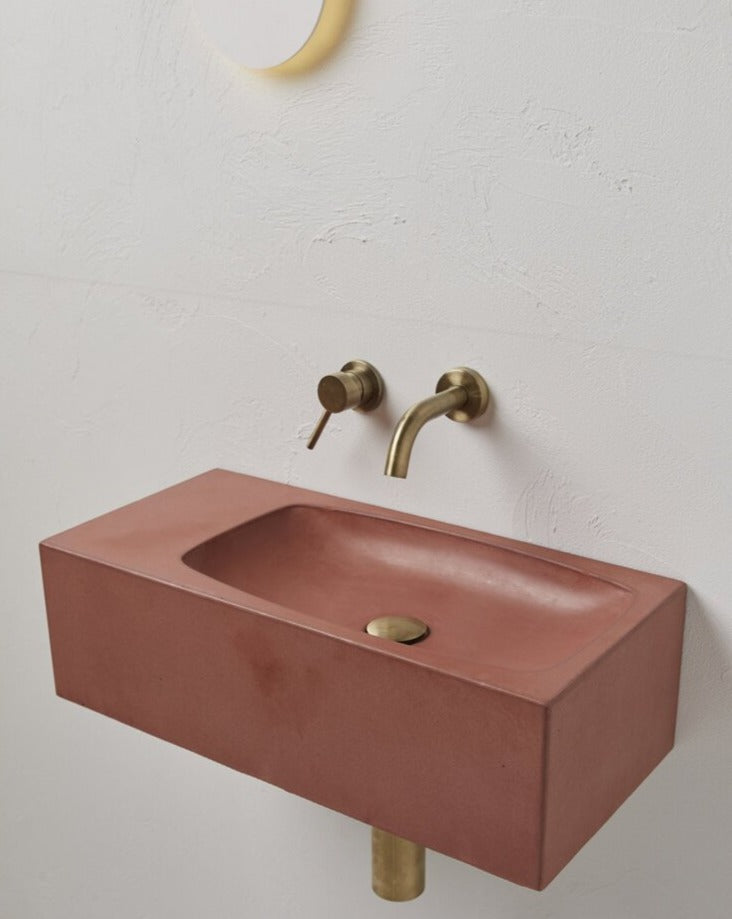 Core Pod concrete wall mounted basin