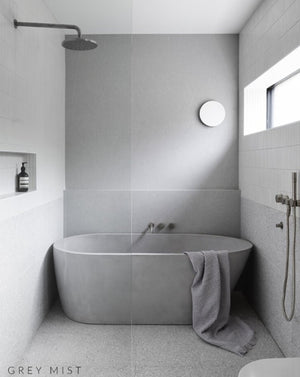 Concrete Freestanding Bath - Concrete Nation Oasis Bathtub in bathroom
