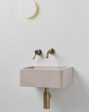 Wall Mounted Concrete Basin - Rosa Pod by Concrete Nation