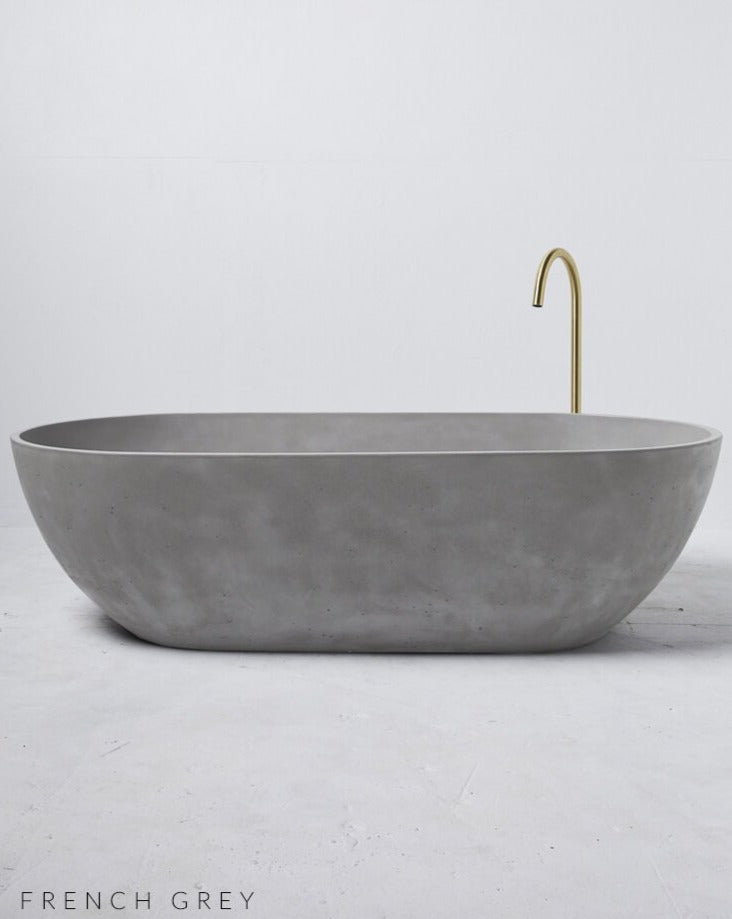 Load image into Gallery viewer, Concrete Freestanding Bath - Concrete Nation Valencia Bathtub in French Grey