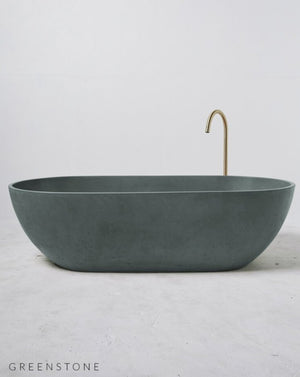 Load image into Gallery viewer, Concrete Freestanding Bath - Concrete Nation Valencia Bathtub in Greenstone