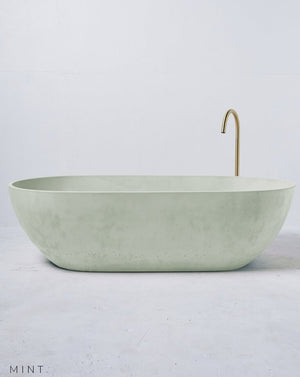 Load image into Gallery viewer, Concrete Freestanding Bath - Concrete Nation Valencia Bathtub in Mint