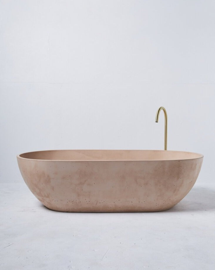 Concrete Freestanding Bath - Concrete Nation Valencia Bathtub in Nude