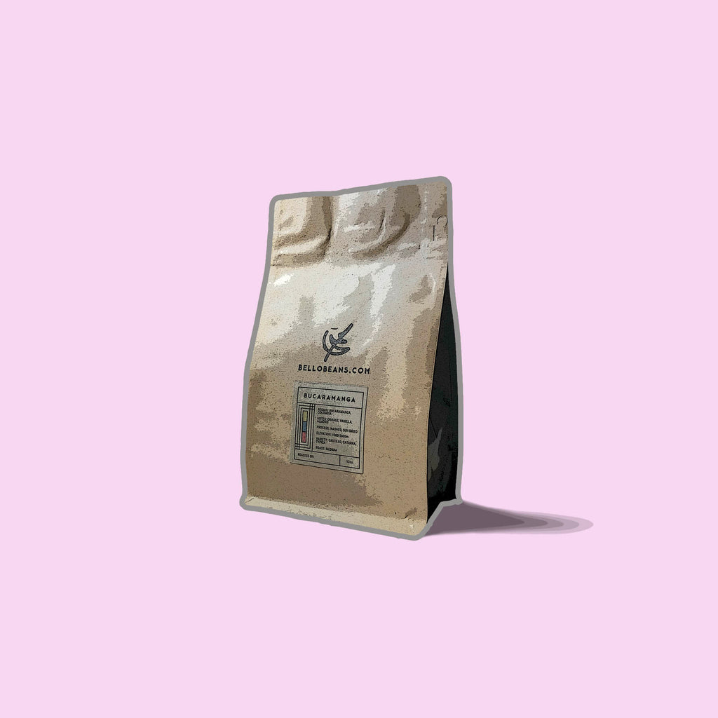 bucaramanga coffee beans bag