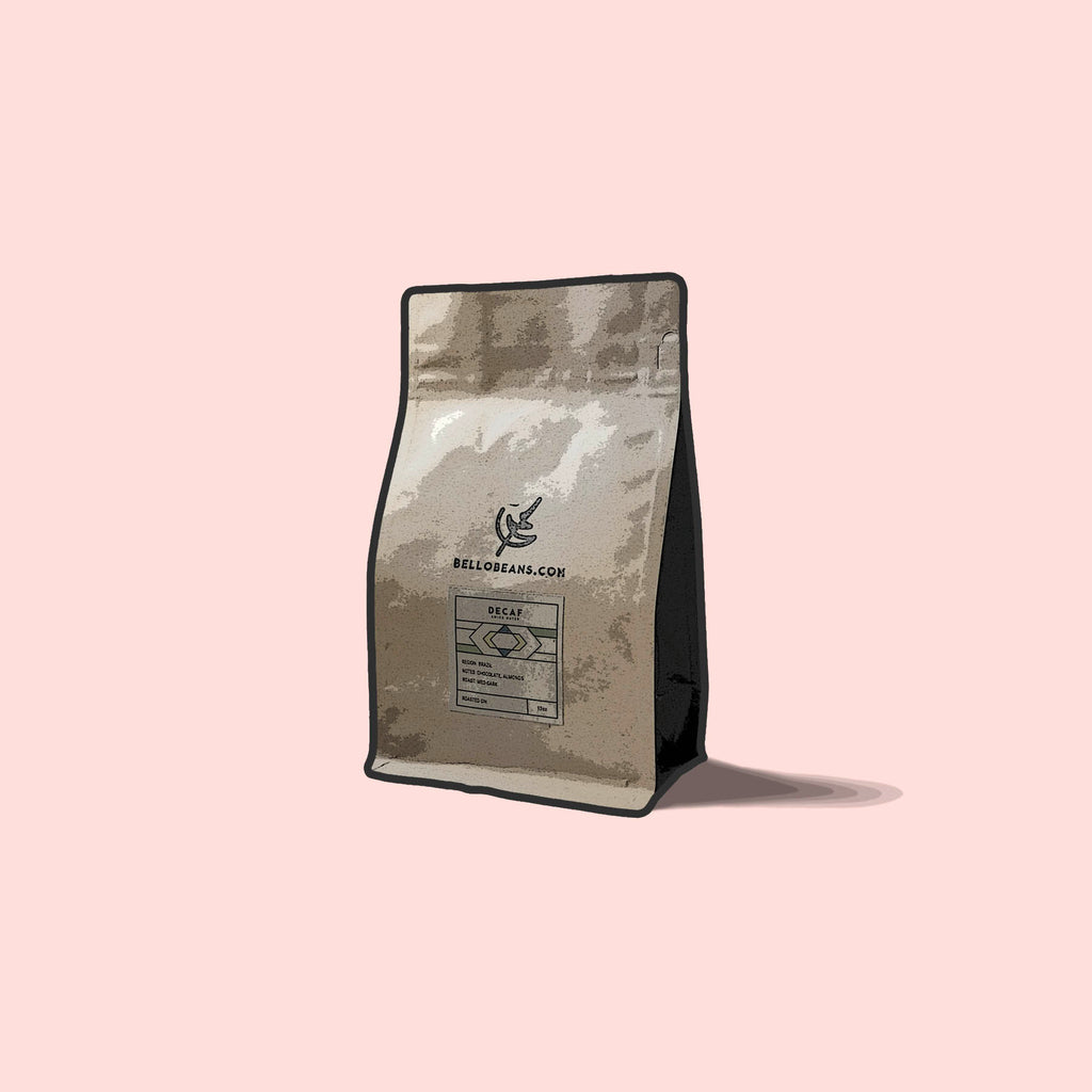 Decaf swiss water coffee bag