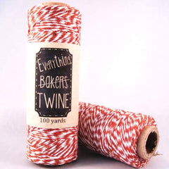 Candy Stripes Bakers Twine 4-Ply 1 Spool/100 Yards Brown/White