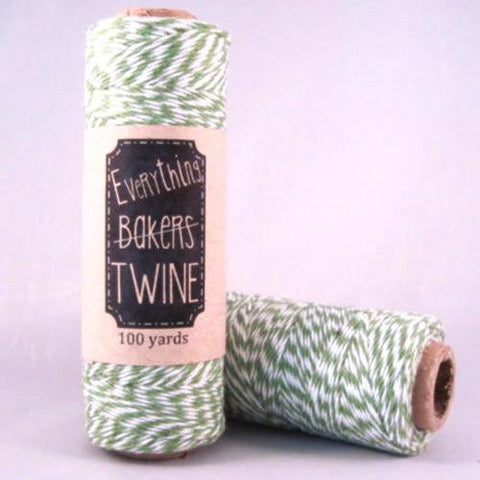 Candy Stripes Bakers Twine 4-Ply 1 Spool/100 Yards Green/White