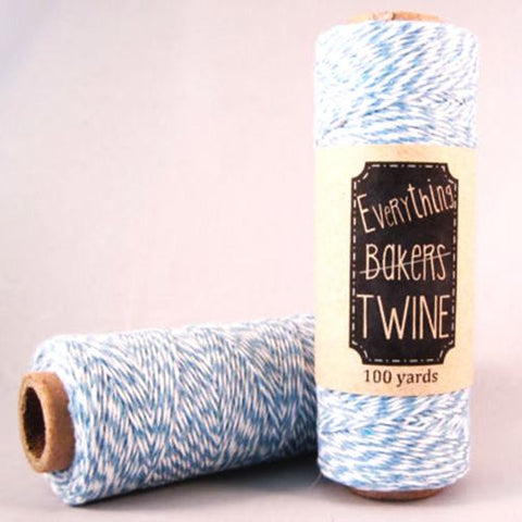 Candy Stripes Bakers Twine 4-Ply 1 Spool/100 Yards Light Blue/White
