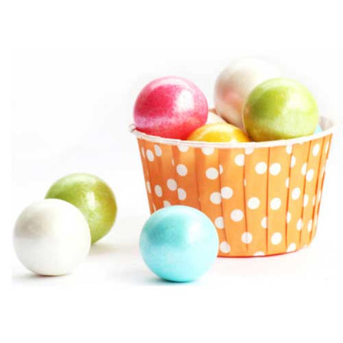 Pack of 20 Polka Dots Orange/White Baking Candy Cups