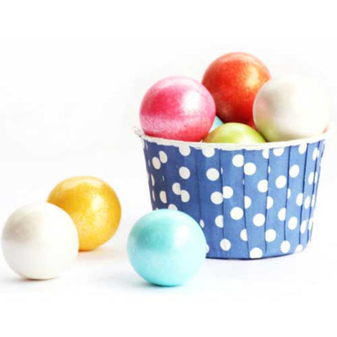 Pack of 20 Polka Dots Periwinkle Blue/White Baking Candy Cups