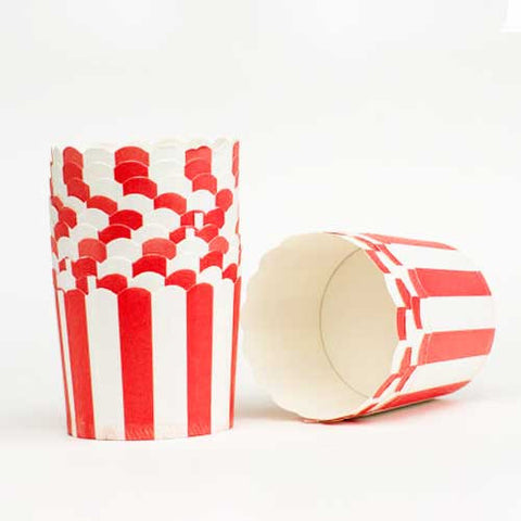 Pack of 20 Candy Stripes Red/White Baking Candy Cups with Scallop Edge