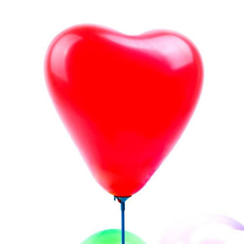 Pack of 25 Heart-shaped Red Pearl Metallic Latex Balloons