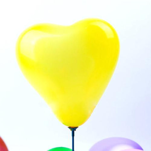 Pack of 25 Heart-shaped Yellow Pearl Metallic Latex Balloons