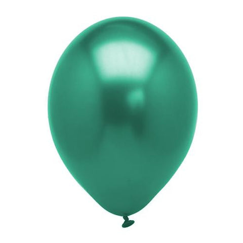 Pack of 25 Pearl Metallic Latex Balloons Teal Green