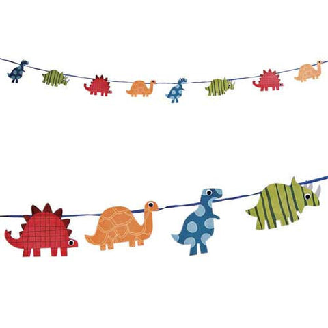 Roarrrrr Bunting Banner with Dinosaur-shaped Pennants
