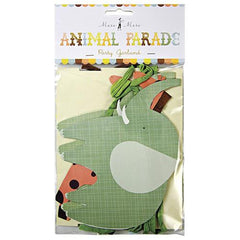 Animal Parade Party Bunting Banner with 8 Pennants