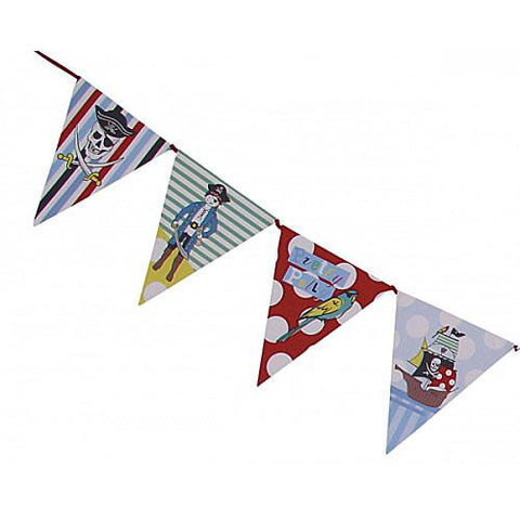 Aye Aye Captain Me Party Bunting Banner with Triangle Pennants