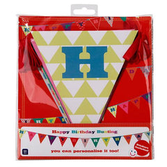 Birthday Bash Bunting Banner with Triangle Pennants