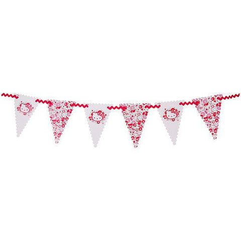 Hello Kitty Bunting Banner with Triangle Pennants