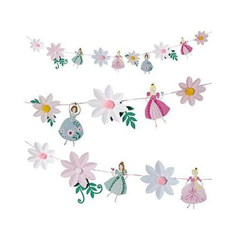 I'm a Princess Bunting Banner with Princess & Flower-shaped Pennants