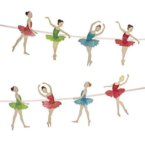 Little Ballet Dancer Bunting Banner with Ballernia-shaped Pennants