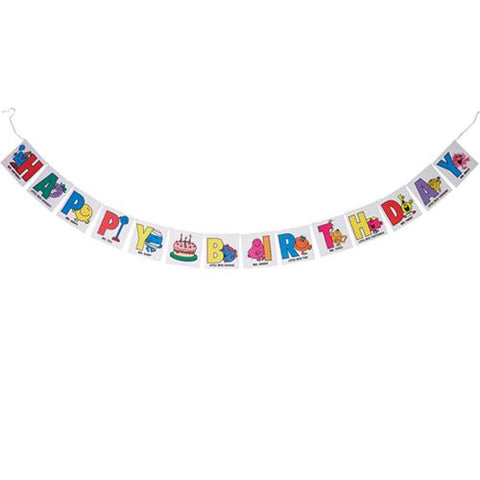 Mr. Men Bunting Banner with Square Character-motifs Pennants
