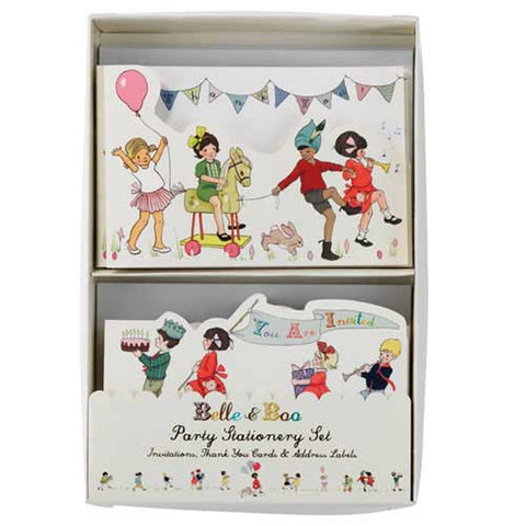 Belle & Boo Party Invitation & Thank You Cards Stationery Set