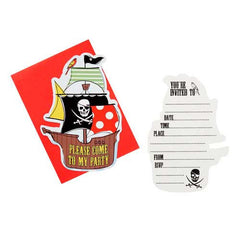 Aye Aye Captain Me Pirate Pack of 10 Party Invitation Cards & Envelopes
