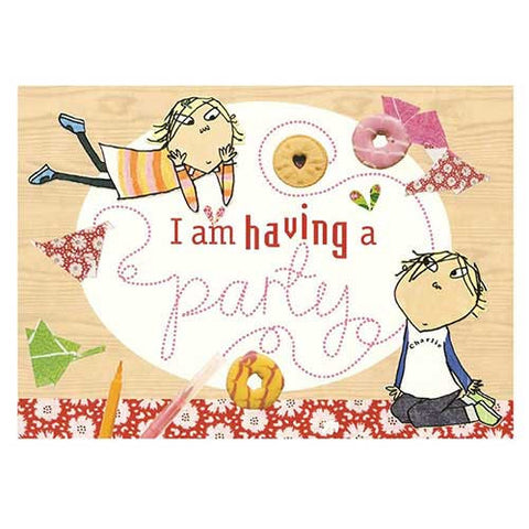 Charlie and Lola Pack of 8 Party Invitation Cards & Envelopes