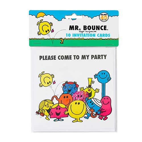 Mr. Men Pack of 10 Party Invitation Cards & Envelopes