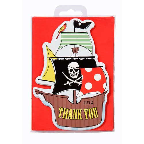 Aye Aye Captain Me Pirate Pack of 10 Thank You Cards & Envelopes