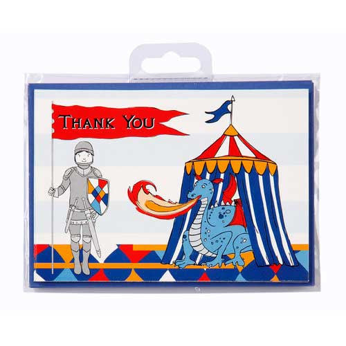 Brave Knight Pack of 10 Thank You Cards & Envelopes