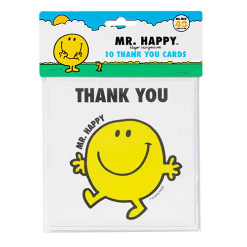 Mr. Men Pack of 10 Thank You Cards & Envelopes