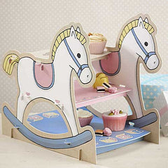 Rock-a-bye Baby Super Charming Rocking Horse 3-tier Cupcake Stand