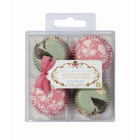Frills & Frosting Pack of 100 Mini Morsel Cupcake Wrappers Liners