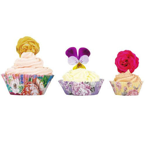Truly Scrumptious Vintage Floral Pack of 60 Cupcake Wrappers Liners