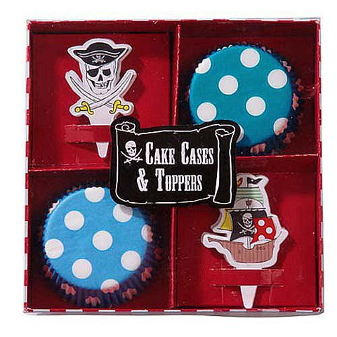 Aye Aye Captain Me Pirate Cupcake Decoration Kit with Wrappers Liners & Toppers