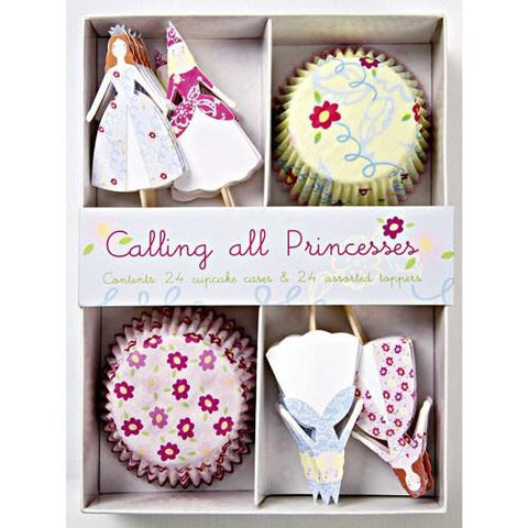 Pretty Princess Cupcake Decoration Kit with 24 Wrappers & Toppers