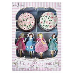 I'm a Princess Cupcake Decoration Kit with 24 Wrappers & Toppers