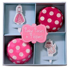 Princess & Kitty Cupcake Decoration Kit with 40 Wrappers Liners & Toppers