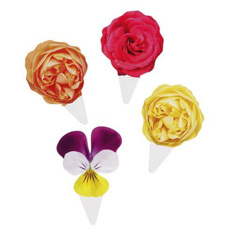 Truly Scrumptious Vintage Floral Pack of 40 Cupcake Toppers