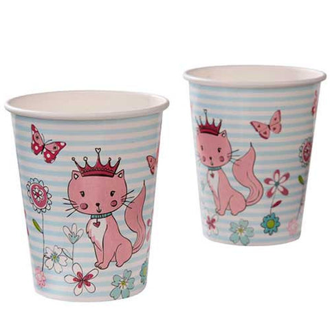 Princess & Kitty Pack of 6 Party Beverage Cups