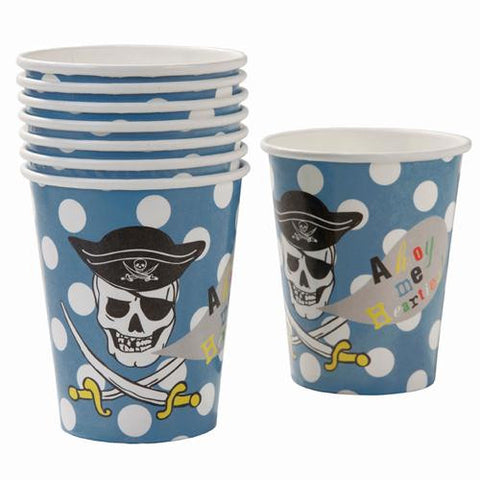 Aye Aye Captain Me Pirate Pack of 8 Party Beverage Cups