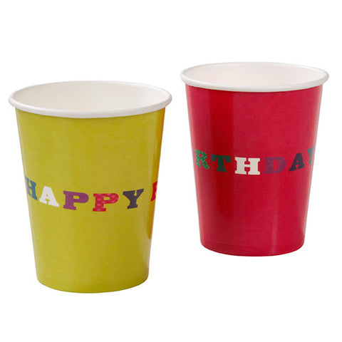 Birthday Bash Pack of 8 Party Beverage Cups