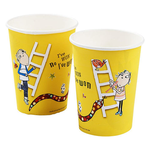 Charlie and Lola Pack of 8 Party Beverage Cups 9oz (250ml)