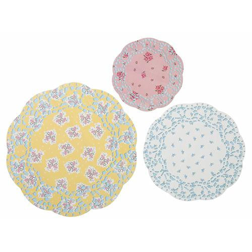 Truly Scrumptious Vintage Floral Pack of 24 Paper Doilies