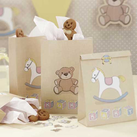 Rock-a-bye Baby Pack of 5 Favor Treat Bags with Stickers