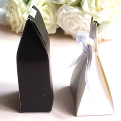 Pack of 2 Bridal Dress & Tuxedo Groom Favor Gift Candy Treat Box Set