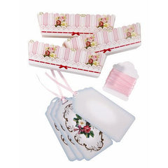 Frills & Frosting Shabby Chic Pack of 12 Loaf Moulds Favor Bags with Ribbons & Tags