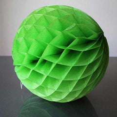 Paper Honeycomb Balls Apple Green - 8cm, 25cm & 30cm